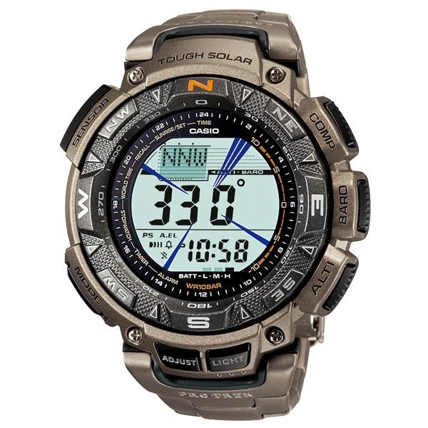 Casio PRO TREK TOUGH SOLAR Titanium Reloj PRG-240T-7 - Plata