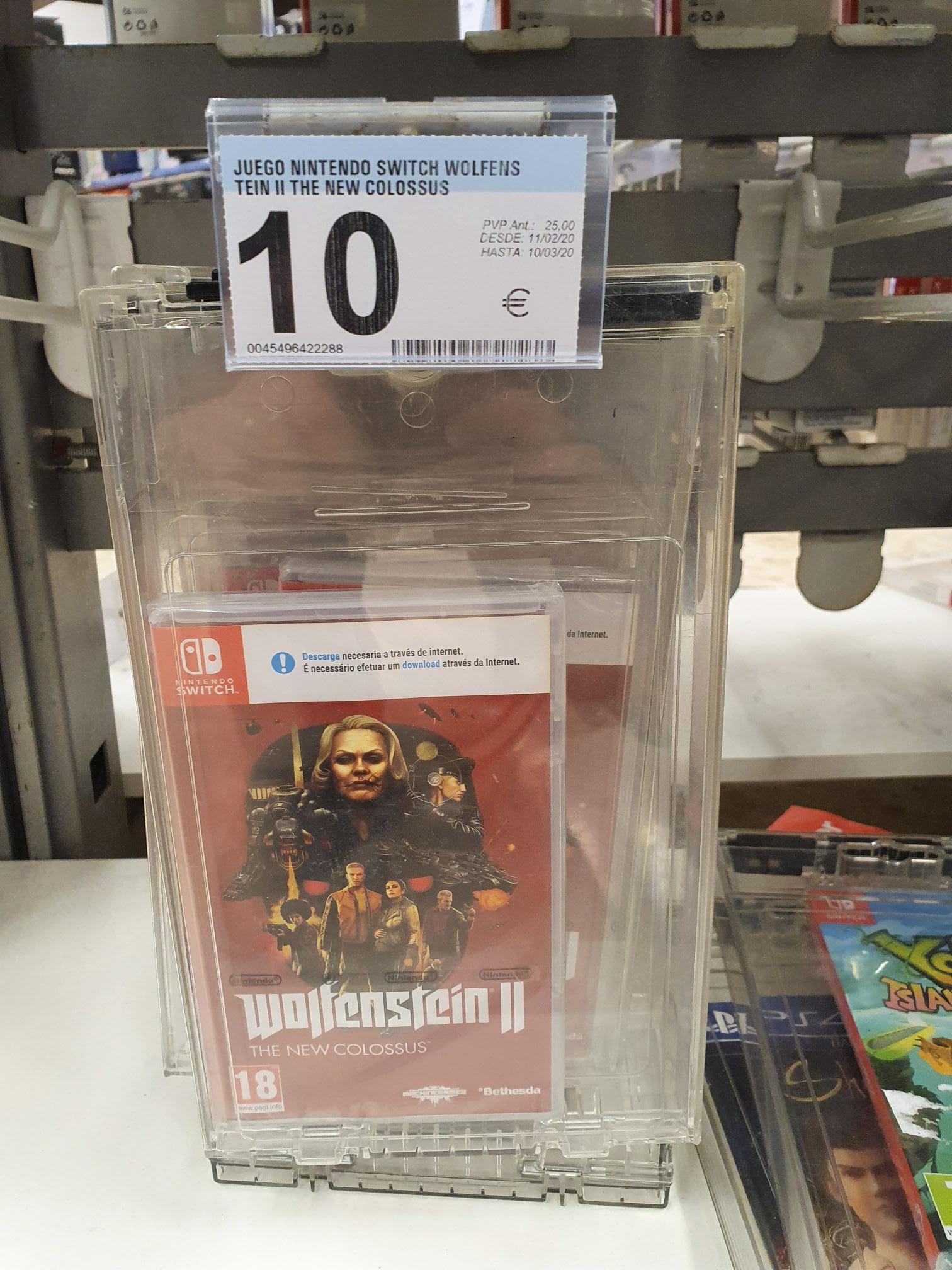 Wolfenstein II para Nintendo Switch en Carrefour La Línea