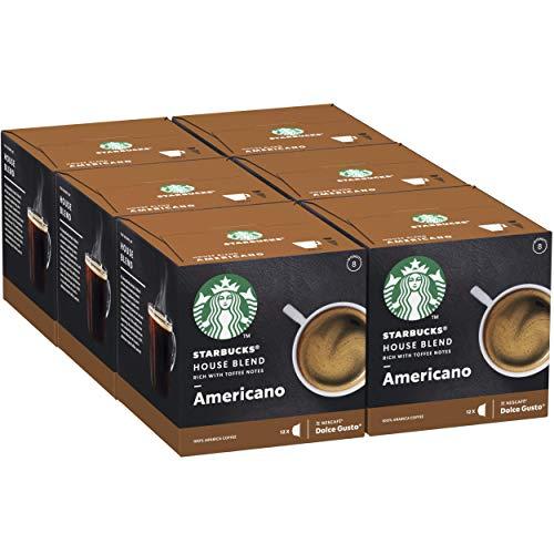 Pack 72 Cápsulas Starbucks Americano House Blend Nescafé Dolce Gusto (6x12 cápsulas)