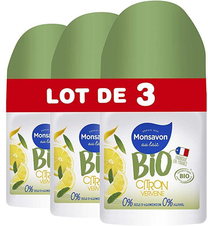Lote 3 desodorantes bio