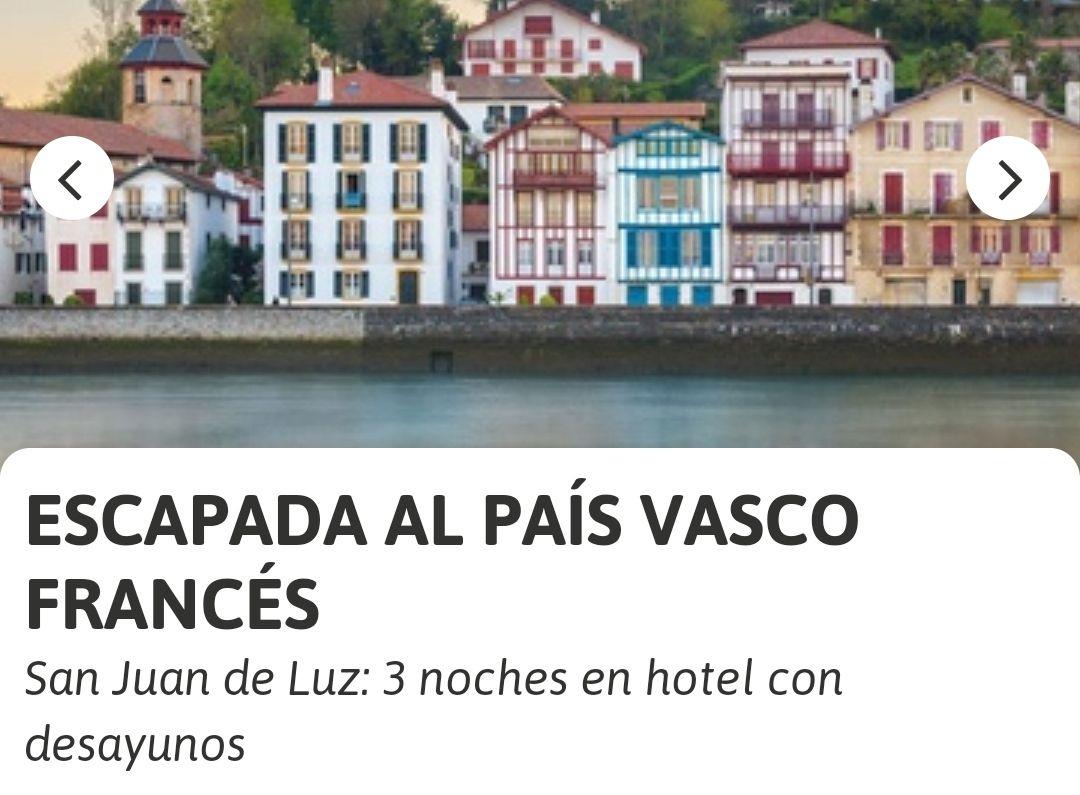 San Juan de Luz(País Vasco Francés): 3 noches en hotel + desayunos(Diferentes fechas)