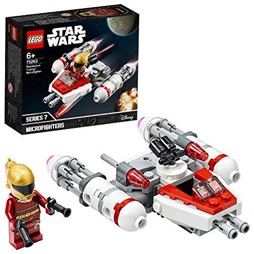 LEGO Star Wars - Microfighter: Ala-Y de la Resistencia, con Torreta Giratoria, Incluye Minifigura de Zorii Bliss