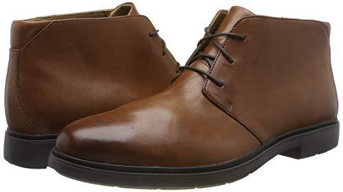 Clarks Un Tailor Mid, Botas Chukka para Hombre, Marrón (Tan Leather Tan Leather), 46 EU