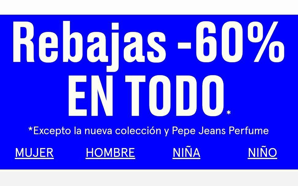 -60% En la web Pepe Jeans
