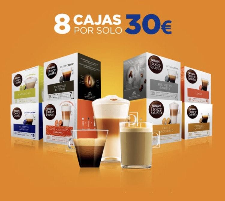 8 cajas de cápsulas Dolce Gusto por 30€ o vaso térmico gratis