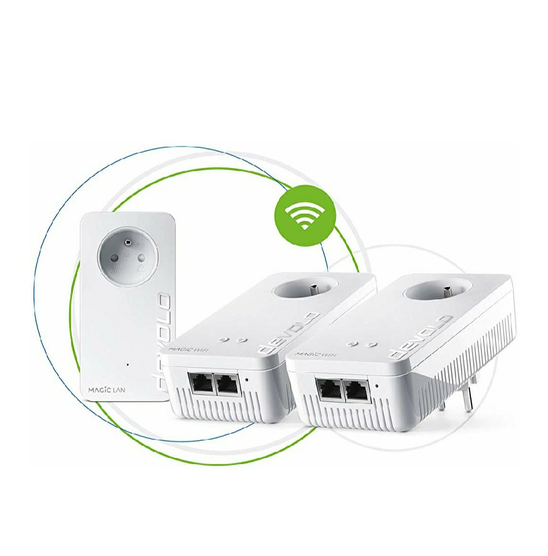 Pack 3 PLC wifi de 2400mb/s reaco. Muy buen precio