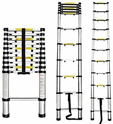 Finether 5M Escalera Telescópica de Aluminio 3,2 metros