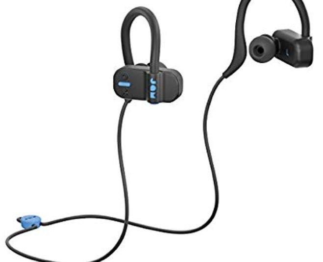 Jam Live Fast Auriculares Bluetooth, ip67 Resistente al Sudor, 3 Arcos de tamaños incluidos, 12 Horas de duración de la bateria