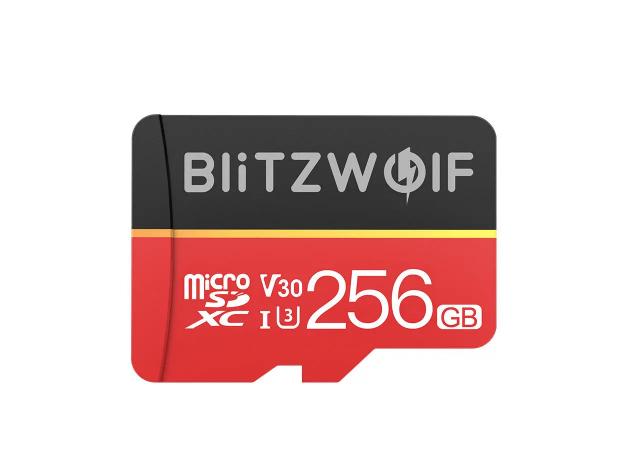 Tarjeta de memoria BlitzWolf BW-TF1 UHS-3 V30 256GB MicroSD Card