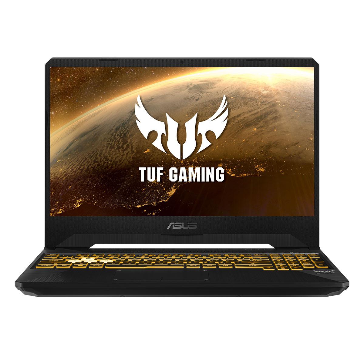 "ASUS TUF Gaming FX505DT-BQ121 / Ryzen 7 3750H / GTX1650 / 16GB RAM / 512GB SSD / 15.6"" - 39,62cm / Negro Sigilo / Teclado QWERTY Español"