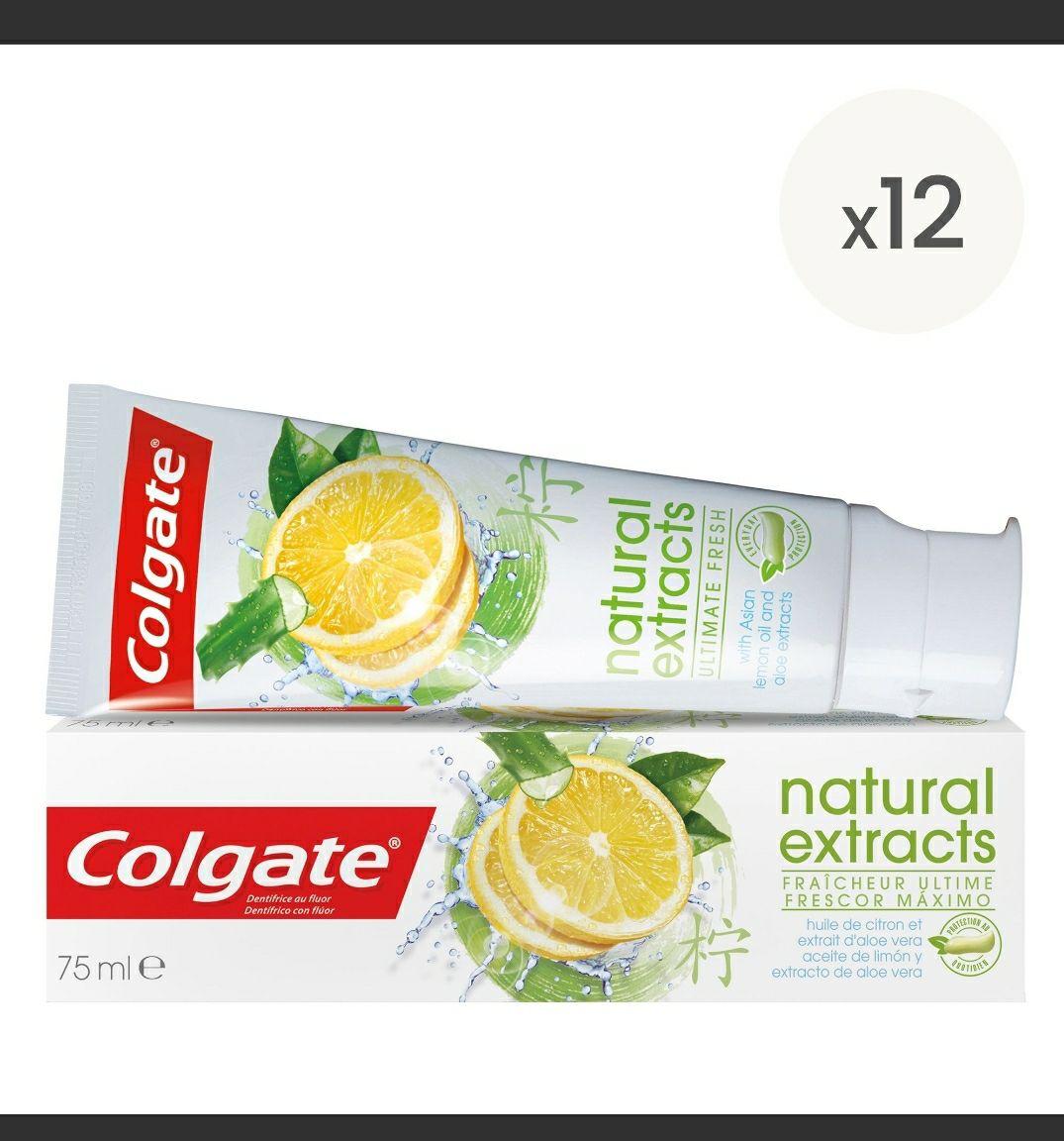 Pasta de dientes colgate limón 12×75ml