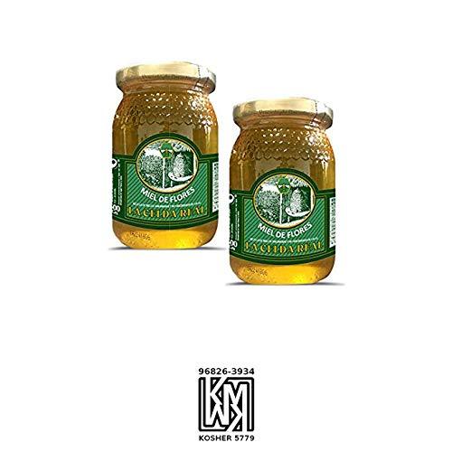 La Celda Real - 1kg - Miel Pack 2 tarros: Miel Mil Flores - Tarro de cristal