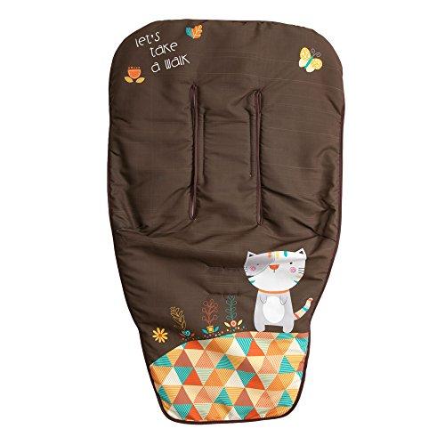 Babyline Kitty - Colchoneta para silla de paseo,color chocolate