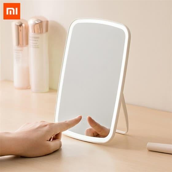 Original xiaomi Mijia espejo de maquillaje portátil inteligente de escritorio luz led portátil