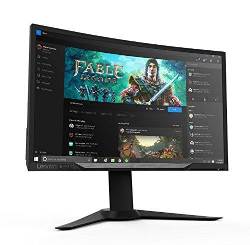 """Lenovo 27G Razer Edition - Monitor Full HD de 27"""" (Curved, mate, HDMI 1.4, DisplayPort 1.2, tiempo de reacción 4 ms, Free-Sync, 144 Hz)"""