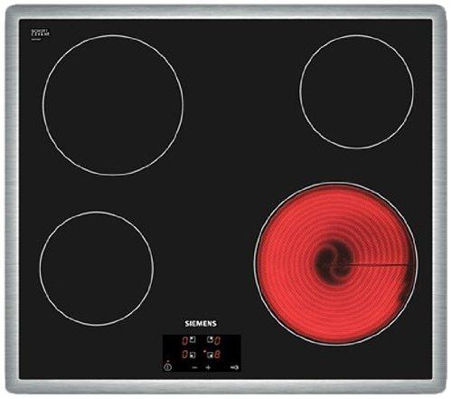 Siemens ET645HE17 hobs - Placa (50/60 Hz, 6600 W, Tocar, Negro, Acero inoxidable, 583 mm)