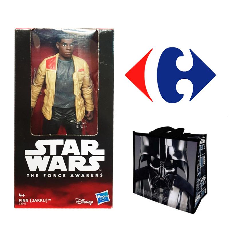 Figura FINN Star Wars a 0,60€ - Bolsa rafia DARTH VADER a 0,70€ - Outlet Carrefour Rosaleda (Málaga)