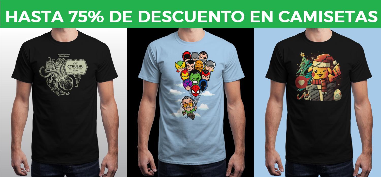Camisetas Geek desde 4€ en Qwertee
