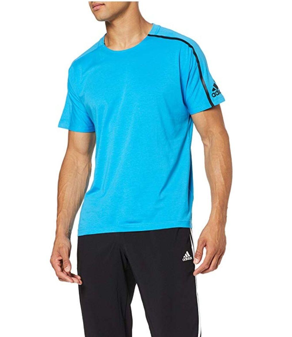 TALLA L - COLOR CIAN - adidas Z.n.e T-Shirt (Short Sleeve), Hombre