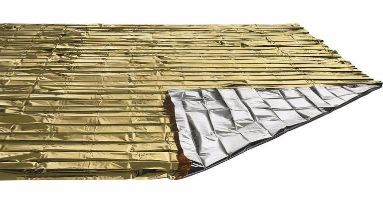 Manta térmica aislante de emergencia 210 X 130 cm.