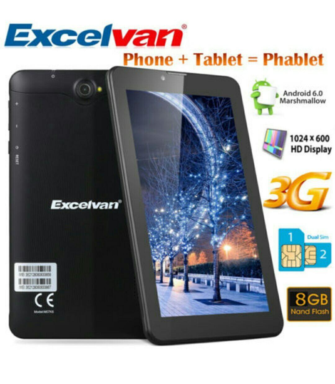 """7"""" Tablet Android 6.0 QuadCore 3G Teléfono Tablet 8GB Dual SIM WiFi"""