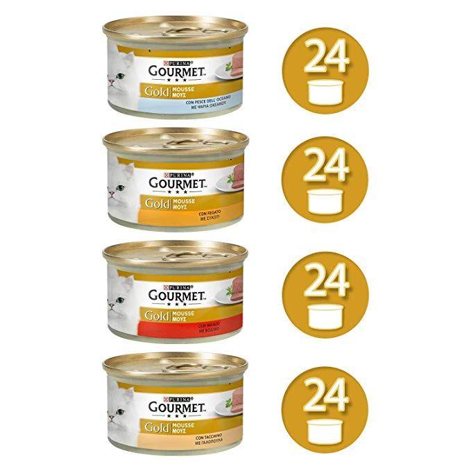 96 latas de comida para gatos