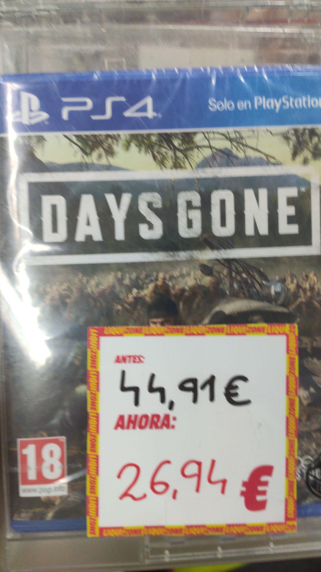 Days gone PS4 en mediamarkt Gandia
