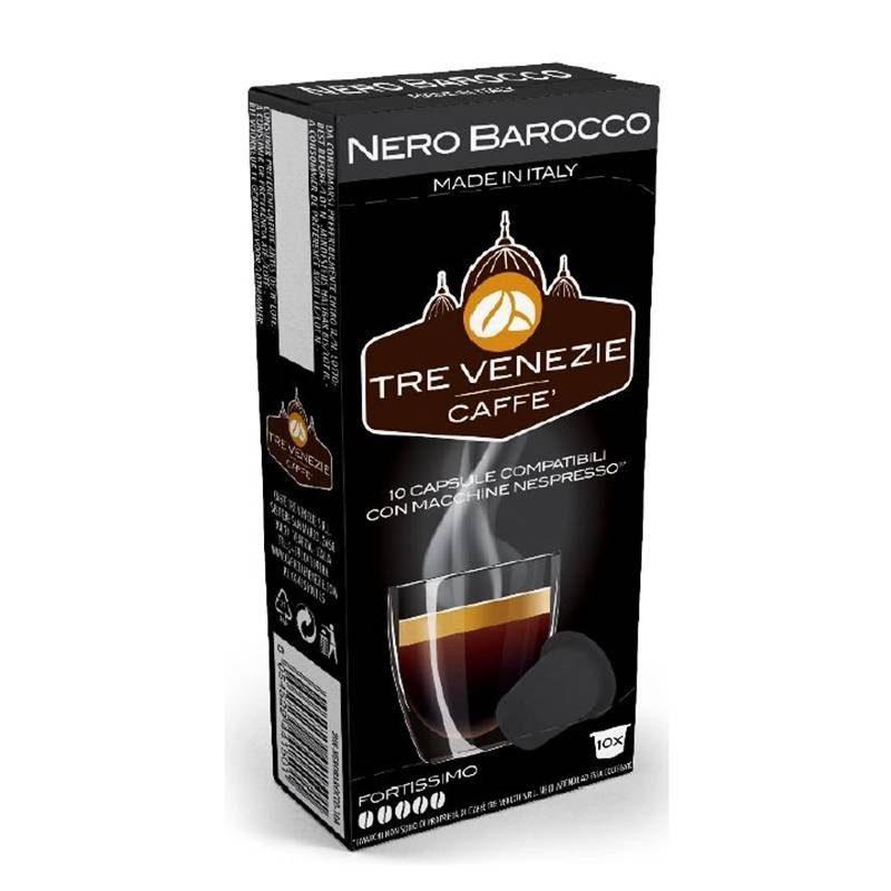 NERO BAROCCO, 10 cápsulas TRE VENEZIE® compatibles Nespresso®