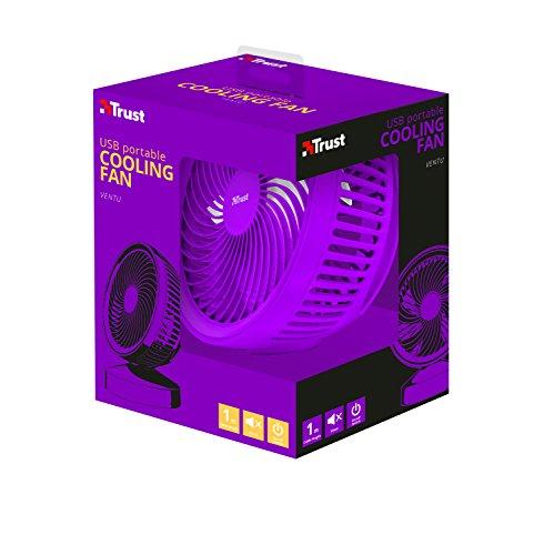 Trust Ventu - Ventilador de refrigeración, Color Violeta