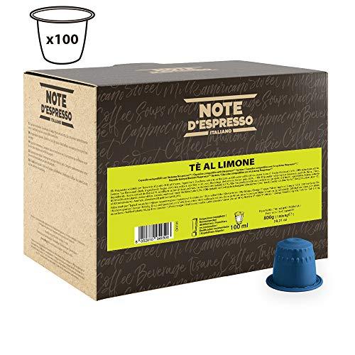100 cápsulas de té al limón