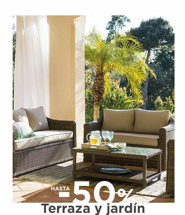 El Corte Inglés. Descuentos de hasta el 50% en terraza y jardín