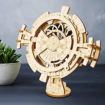 Calendario perpetuo de madera, rompecabezas
