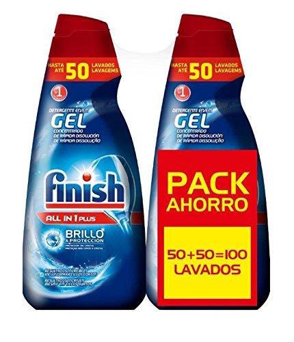 Finish Gel lavavajillas 100 lavados solo 10.4€