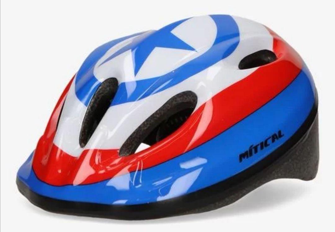 Casco acolchado de bici para niño con estampado del Capitán América. Sprinter.
