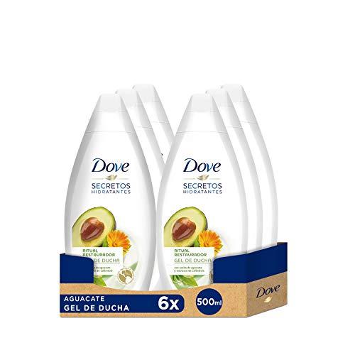 6 x Dove Aceite de Aguacate y Extracto de Caléndula Gel de Ducha 500 ml