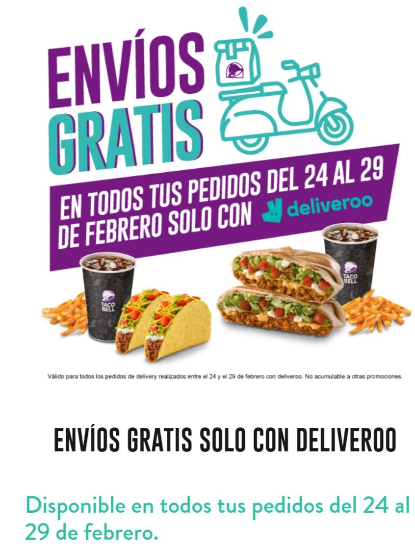 Envíos gratis en Deliveroo en varios restaurantes