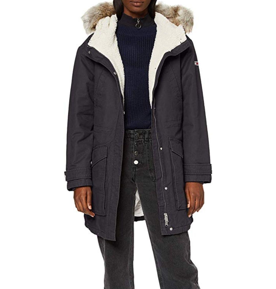 TALLA XS - Tommy Hilfiger Tjw Essential Lined Cotton Parka Chaqueta para Mujer