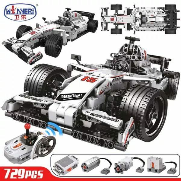 729 Uds City F1 coche de carreras a Control remoto para legotely Technic RC