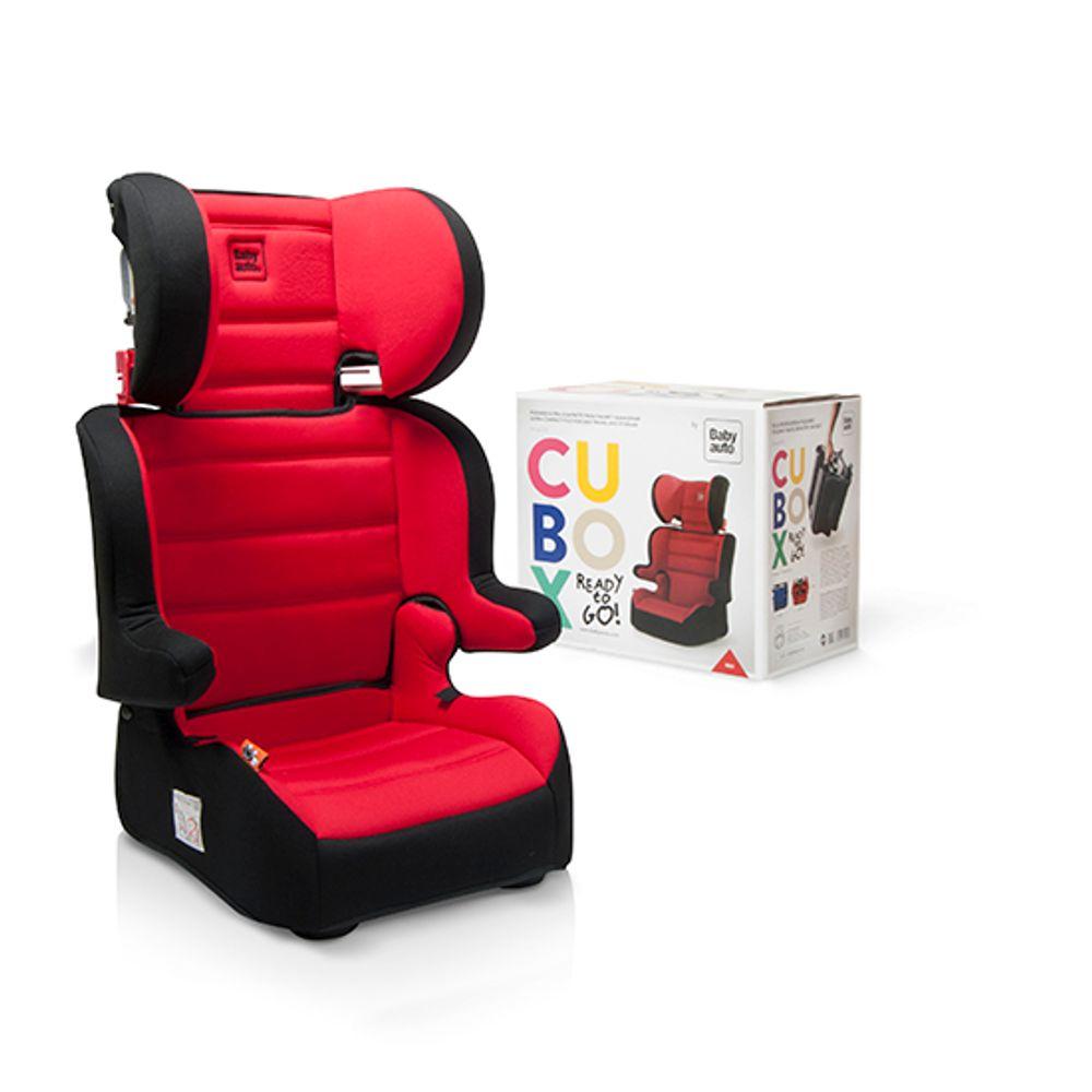Silla de auto Cubox grupo 2-3 Negra/roja BABYAUTO (tiendas drim)