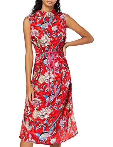 Marca Amazon - find. Vestido Estampado de Fiesta para Mujer