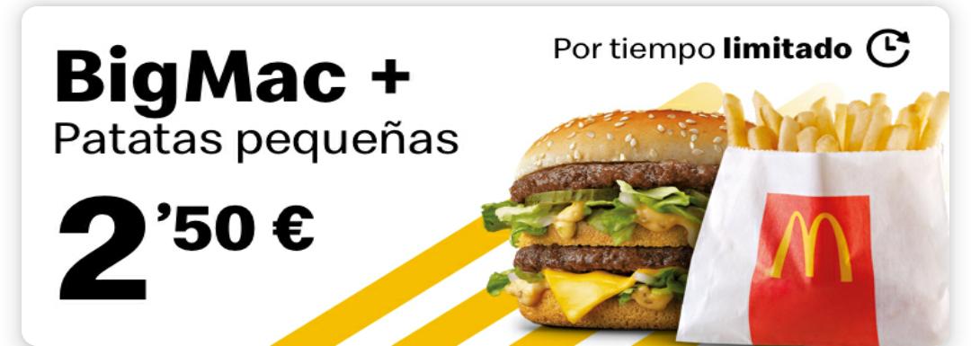 Big Mac + patatas pequeñas