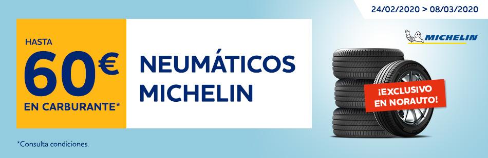 60€ en carburante en neumáticos Michelin