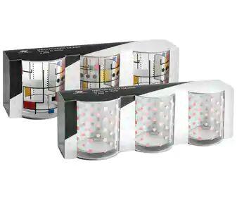 Pack de 3 vasos decorados