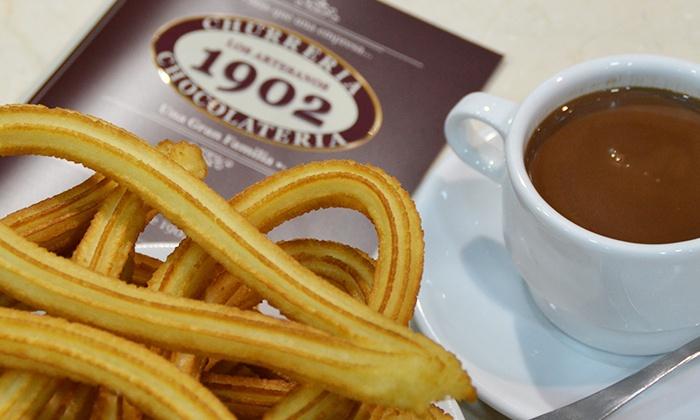 2 tazas de chocolate y 10 churros en magnífica churrería de Madrid