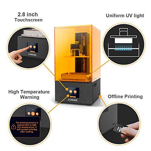 LONGER Orange 10 Impresora 3D de Resina SLA con Pantalla Táctil a Color