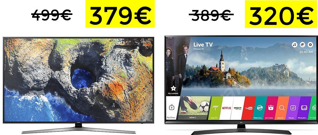 Descuentazos en TVs LG y Samsung