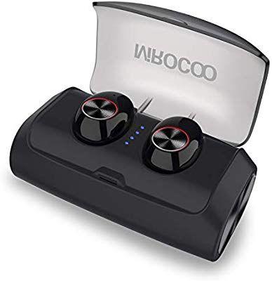 MIROCOO V6 Auriculares Bluetooth 5.0, TWS Mini In Ear 125 Horas Reproducción Cascos Deportivos Auriculares, HiFi Reproducción
