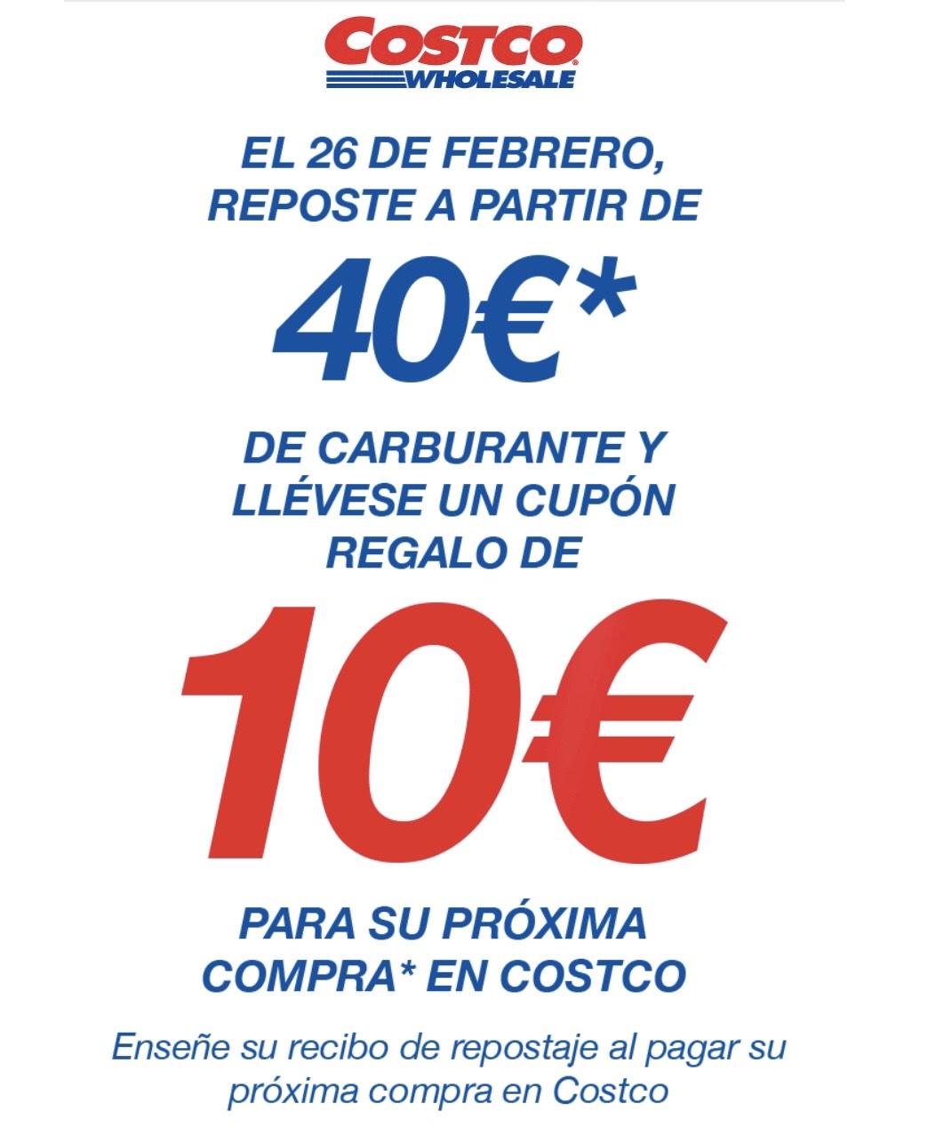 Reposta 40€ y llévate 10€ en tu próxima compra (solo socios)