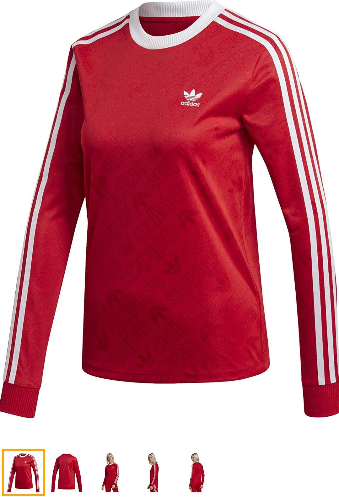 Camiseta roja Adidas Mujer talla 42