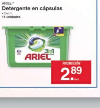 Ariel 3 en 1 pods - 11 unidades